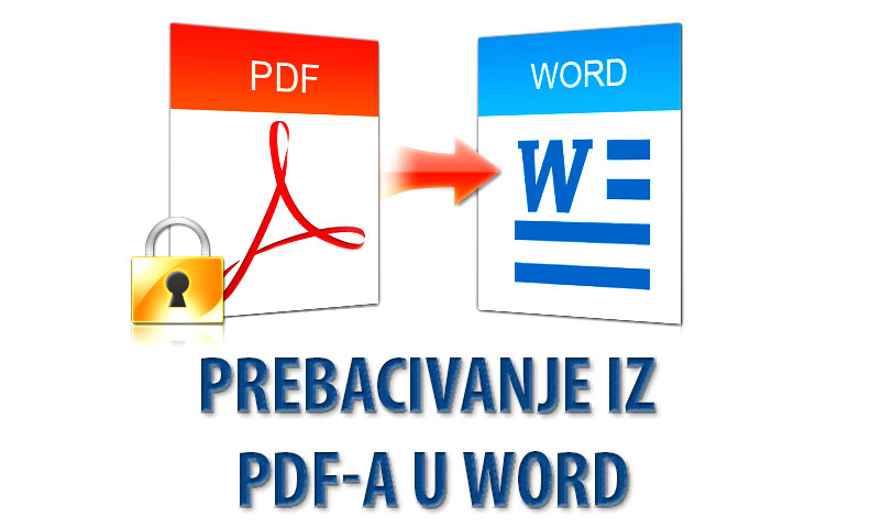 Konvertovanje iz PDF-a